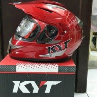 Helm Kyt Enduro Solid Red Maroon