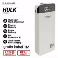 powerbank delcell hulk 22000 mah real kapasitas. qualcom. original