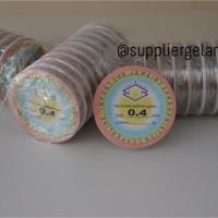 Tali Kawat Aksesoris 0,4 bahan Gelang Kalung craft fashion 0.4 mm