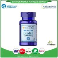 biotin 7500 mcg isi 50 tablet puritans pride/biotin/rambut/bewok/kuku