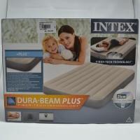 Kasur Intex Dura Beam Plus Fiber Tech Tecnology 64708 Cream/Abu-abu