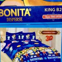 Sprei Bonita Size King 180 x 200 Motif Doraemon Family