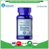 biotin 10.000 mcg isi 50 /puritans pride 10000 mcg rambut/bewok/beard