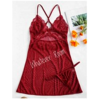 Elora - Sexy Lingerie Lace Dress Sleepwear Babydoll