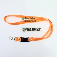 Tali ID Card 1,5 cm stopper / Tali Lanyard / Tali Name Tag - ORANGE