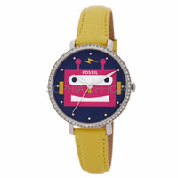 JAM IMPORT JAM EXPORT WANITA Fossil Jacqueline Robot Leather Yellow E