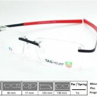 Kacamata Frame Tag Heuer Premium 0342 Black Red