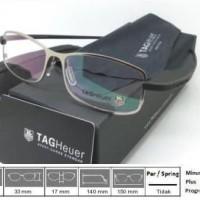 Kacamata Frame Tag Heuer Premium 0346 Silver Black