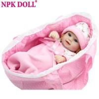NPK Mini Reborn Baby Doll 10 inch Vinyl Baby Alive Toys Girls Gift