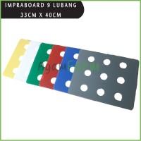 Impraboard Tutup Bak Baki Hidroponik 9 Lubang Sistem Wick