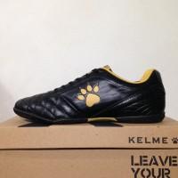 New Sepatu Futsal Kelme Power Grip Black Gold 1102091 Original BNIB