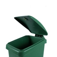 Baru tempat sampah injak segi 50liter bio green leaf 2160 - Kuning
