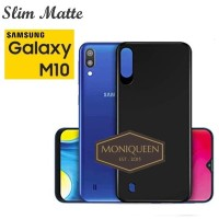 Samsung Galaxy M10 SLIM BLACK MATTE CASE SOFTCASE / Blackmatte case