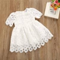 dress bayi perempuan motif full lace putih cantik