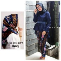 Set Batik YZ Stelan Kebaya Brukat Aurora Rok Plisket dan Hijab Wanita