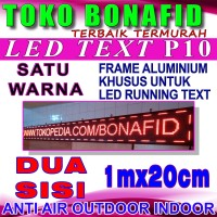 OUTDOOR dua sisi Double Side Running Text 100cm x 20cm LED Display