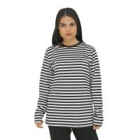 Kaos Lengan Panjang Garis Stripes Unisex Katun Premium Quality