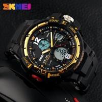 Jam Tangan Pria Digital Analog SKMEI 1148 GOLD Water Resistant 50m
