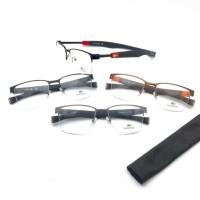 kacamata lacoste half magnet free lensa minus anti radiasi uv & emi