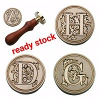 Seal wax stamp letter UKIR ready stok lilin segel stempel sealing