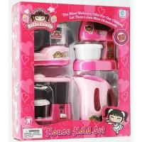 Mainan Anak Perempuan House Hold Set Coffee Maker Blender Kitchen Play