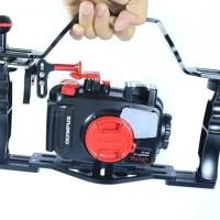 underwater camera tray with shutter trigger dan handle