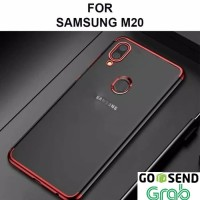 Case Samsung M20 softcase casing hp back cover ultra thin TPU PLATING