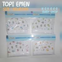 TOPI BAYI EMEN / BULAT FLUFFY MOTIF CUTE INDIAN (Isi : 2 set)