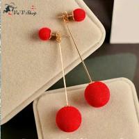 Anting korea cewek / pom earrings import jewellery 0308C
