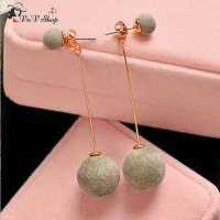 Anting korea cewek / pom earrings import jewellery 0308B