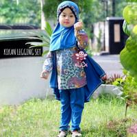 Kikan Legging Set - Busana Muslim Model Batik Cardigan Terbaru Anak