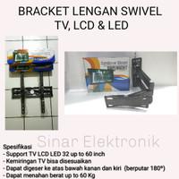 BRACKET LENGAN SWIVEL LCD LED TV 32-60 INCH