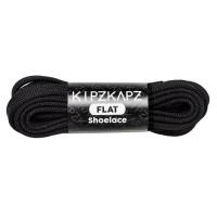 Kipzkapz F1 BLACK 90cm 115cm 140cm 160cm Tali Sepatu Pipih Flat Hitam