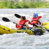Perahu Karet Explorer K2 Kayak Set dengan dayung pompa INTEX 68307
