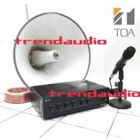 SOUND SYSTEM TOA Paket Speaker Ampli + CORONG TOA Original