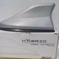 Antena Hybrid Hiu Silver / Shark fin Antena Hybrid Silver
