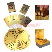 Kartu Remi Lapis Emas Imitasi Poker Playing Cards Deck Gold Foil