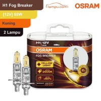 Osram Lampu Kabut Mobil H1 Fog Breaker 12V 55W - 62150FBR - Kuning