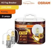 Osram Lampu Kabut Mobil H3 Fog Breaker 12V 55W - 62151FBR - Kuning