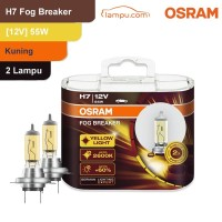 Osram Lampu Kabut Mobil H7 Fog Breaker 12V 55W - 62210FBR - Kuning