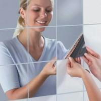wall sticker cermin mirror kaca wallpaper dinding