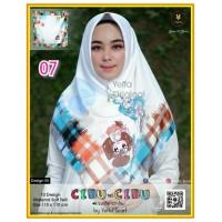 Termurah! Jilbab Segiempat Motif Kartun Cibu-cibu Yeffa 07 Hijab Motif