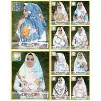 Grosir Jilbab Segiempat Motif Kartun Cibu-cibu Yeffa Hijab Grosir