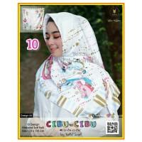 Termurah! Jilbab Segiempat Motif Kartun Cibu-cibu Yeffa 10 Hijab Motif