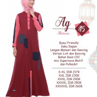 Gamis Dress Alnita Ag 45 maroon s-xl