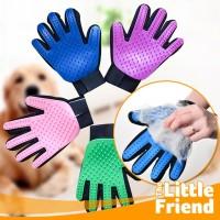 Sikat Sarung Tangan Pemijat/Perapi Bulu Hewan Peliharaan Anjing Kucing
