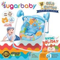 Sugar Baby Gold Edition Premium Swing Bouncer - Spring Holiday - Biru