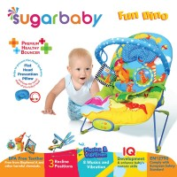 Sugar Baby Premium Healthy Bouncer Bayi 3 Recline - Fun Dino