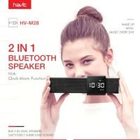 Havit M28 Bluetooth Speaker Alarm Clock with FM Radio & Built-in Mic