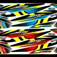 Striping variasi stiker lis bodi Mio j NL152